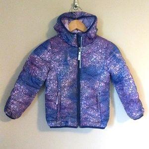 Paradox Girls Purple Print Primaloft Light Jacket Size S 6
